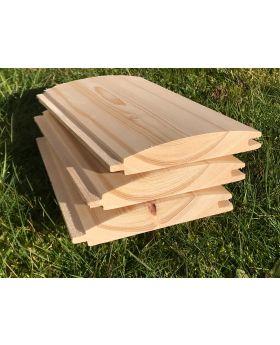 25x125 Tanalised Redwood Loglap-1m