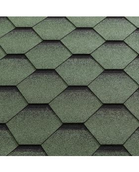 Felt Shingles/Ridges Green