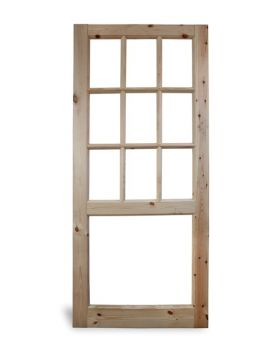 Georgian 9 Pane Half Glazed Door